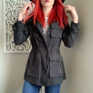 Madden Girl Utility Jacket Black